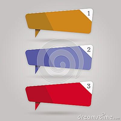 Set of Web color stickers - labels - tags - bubble