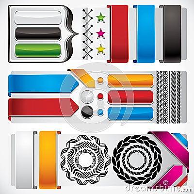 Set of web design elements.