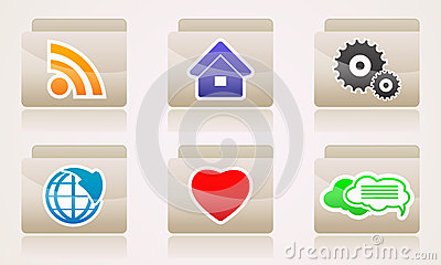 Set web icons of folders business internet
