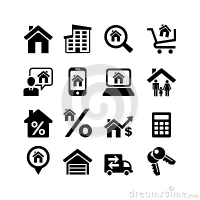 Set 16 web icons. Real Estate