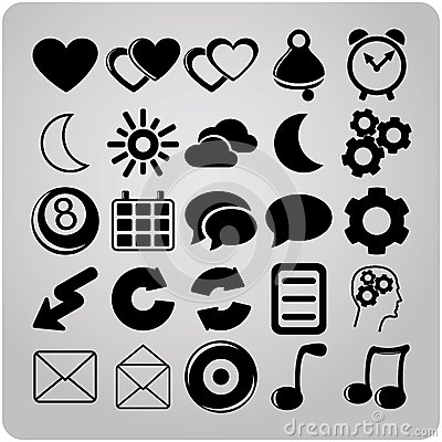 Set of 25 web icons