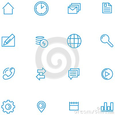 Set of web icons vector Vector Illustration
