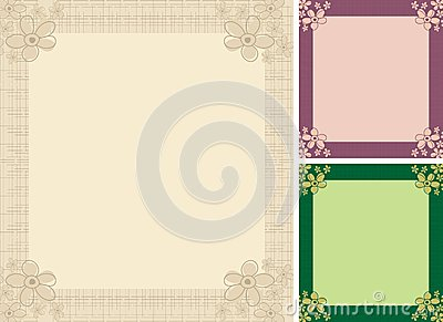 Set wedding invitation