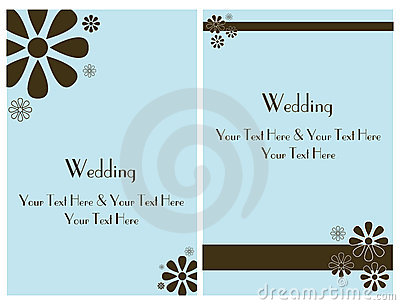 Set wedding invitation card 2