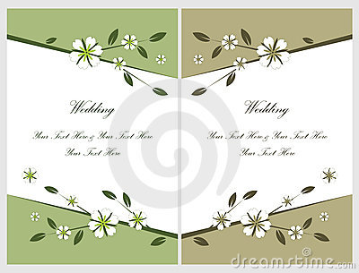 Set wedding invitation cards 5