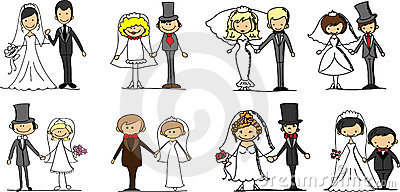 Set wedding pictures,vector