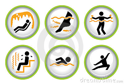 Set of Wellness&Spa Pictogram Buttons II