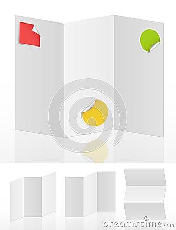 Set of white blank menus