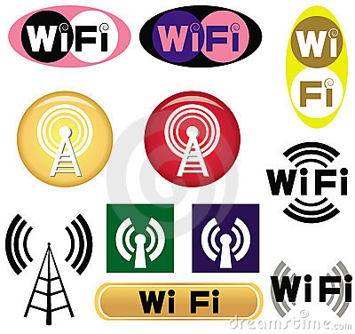 Set of wi-fi symbols