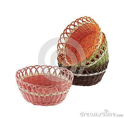 Set wicker bowl