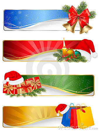 Set of winter christmas backgrounds.