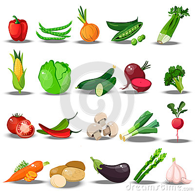 Free Set With Fresh Healty Vegetables Stock Images - 92264574