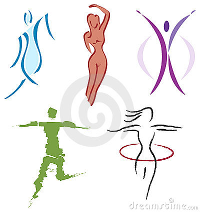 Free Set Woman Body Icons - Nature, Sports And Fitness Stock Photos - 13495683