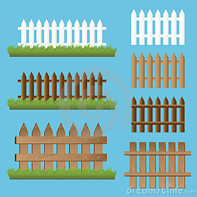 Set of wooden fences