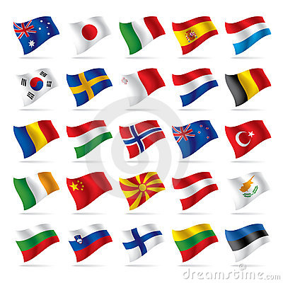 Set of world flags 2
