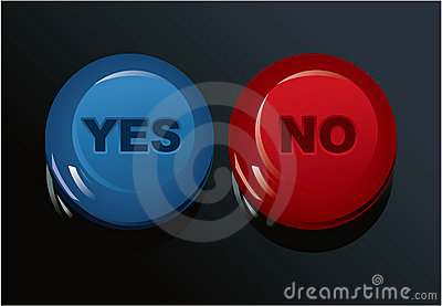 Set of Yes/No buttons