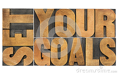 Set your goals in wood type