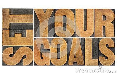 Set your goals in wood type