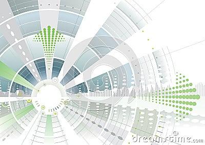 Seta verde futurista