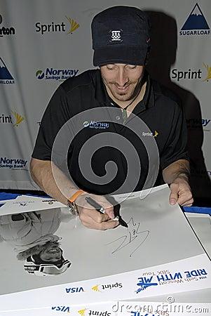 Seth Wescott siging autograph Editorial Image