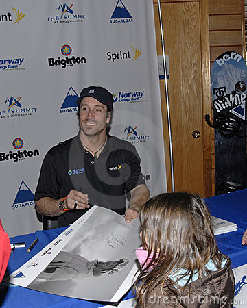 Seth Wescott siging autograph Editorial Photo