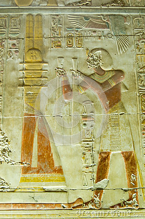 Seti praising the Djed Column, Abydos
