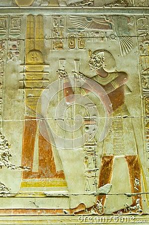 Seti praising the Djed Column, Abydos