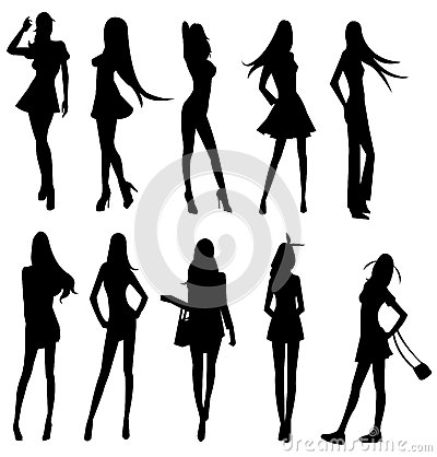 Sets of sexy girl gang, create by vector