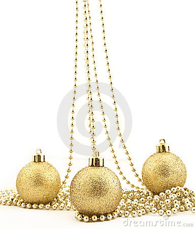 Sets of shining Christmas-tree decorations