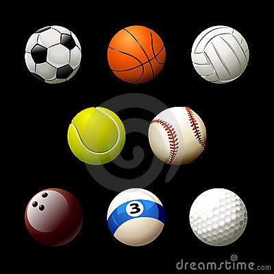 Free Sett Of Realistic Balls Royalty Free Stock Photography - 9420527