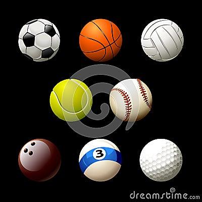 Sett of realistic balls