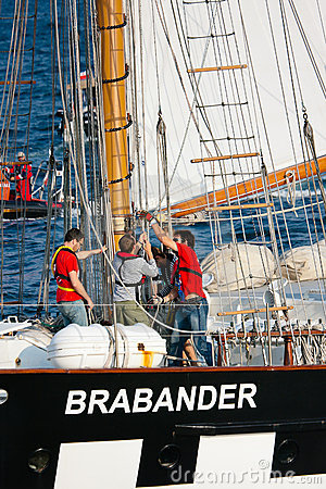 Setting Sails on Brabander ship Editorial Image
