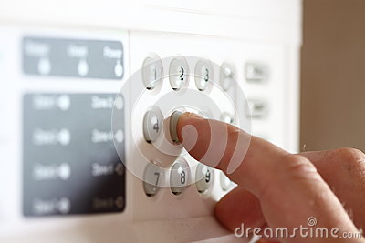 Setting security alarm A