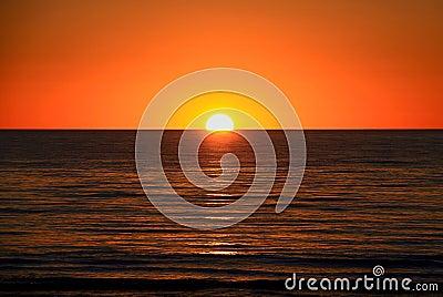 Setting Sun over Ocean, Australia