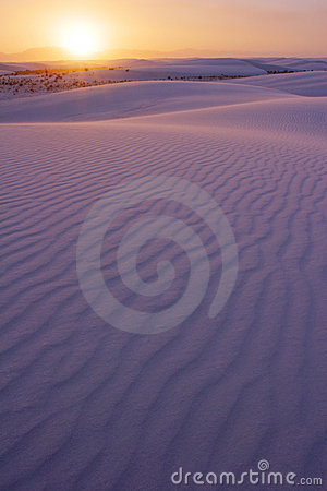 Setting Sun over the White Sands of NM