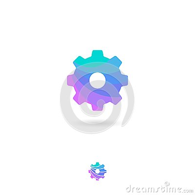Free Setting, UI Icon. Web Icon. Setting, Gear Emblem. Cogwheel Pictogram. System, Preferences Symbol. Stock Photo - 122061320