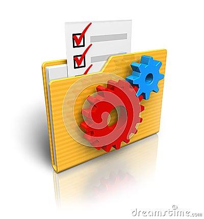 Free Settings Folder Icon Royalty Free Stock Image - 17474366
