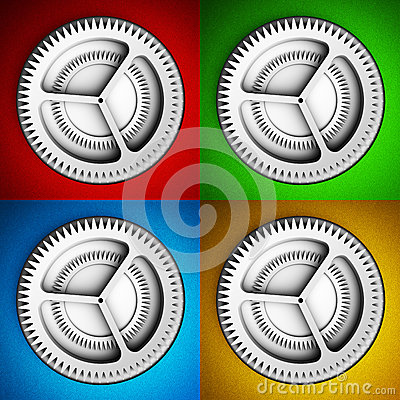 Settings icon with gears