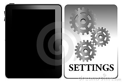 Settings of tablet pc