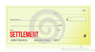 Settlement bank check