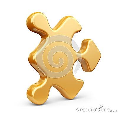 Seul morceau de puzzle denteux. icône 3D d isolement