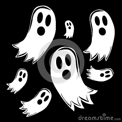 Free Seven Ghosts Royalty Free Stock Photo - 32858185