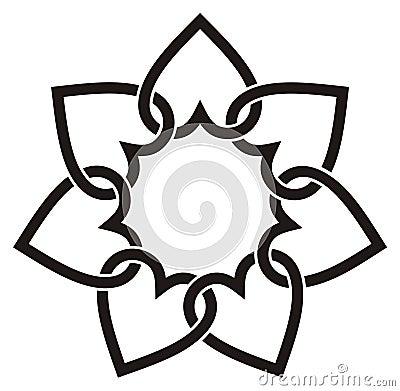 Seven hearts flower