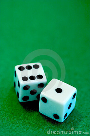 A seven played dices