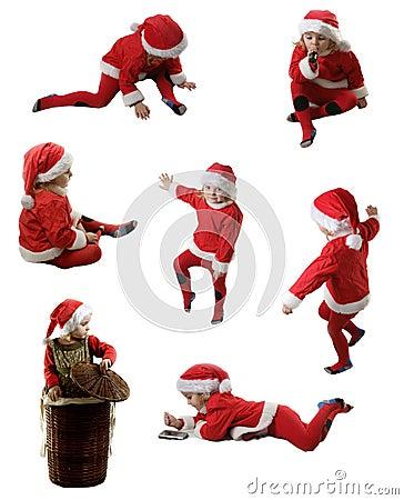 Seven Santa helpers