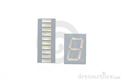 Seven segment displays isolated