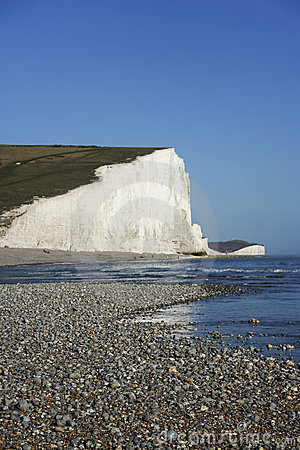 Free Seven Sisters Chalk Cliffs Pebble Beach Sussex Uk Royalty Free Stock Photography - 14073957