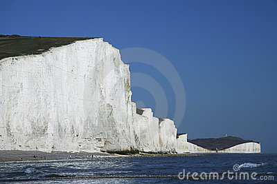 Seven sisters chalk cliffs sussex england