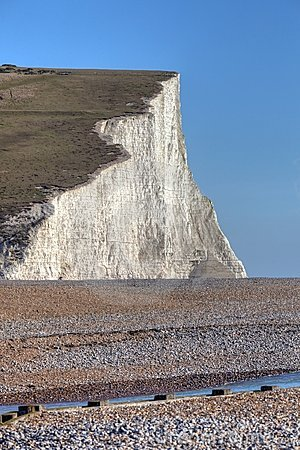 Seven Sisters cliff in East Sussex England