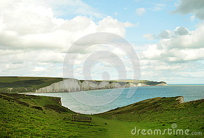 Seven sisters cliff in England